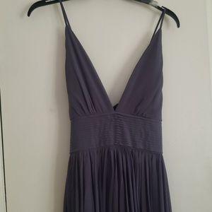 Lulu's gray long formal dress size Large